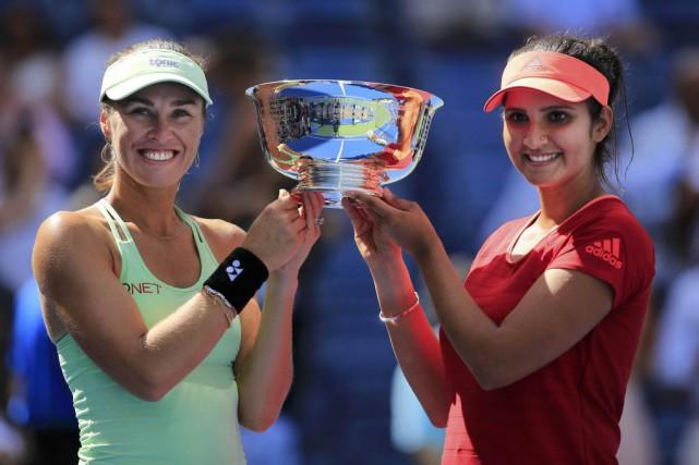 Martina Hingis et Sania Mirza.... (PHOTO REUTERS)