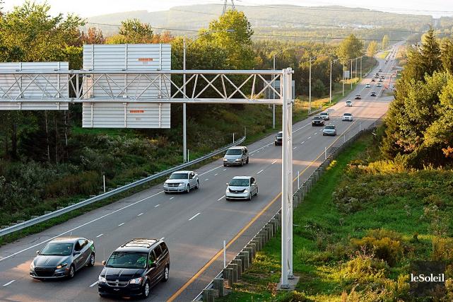 L'élargissement du tronçon sud de l'autoroute 73 vise... (Le Soleil, Erick Labbé)
