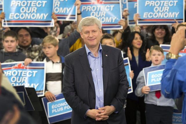 Le premier ministre sortant Stephen Harper... (La Presse Canadienne, Ryan Remiorz)