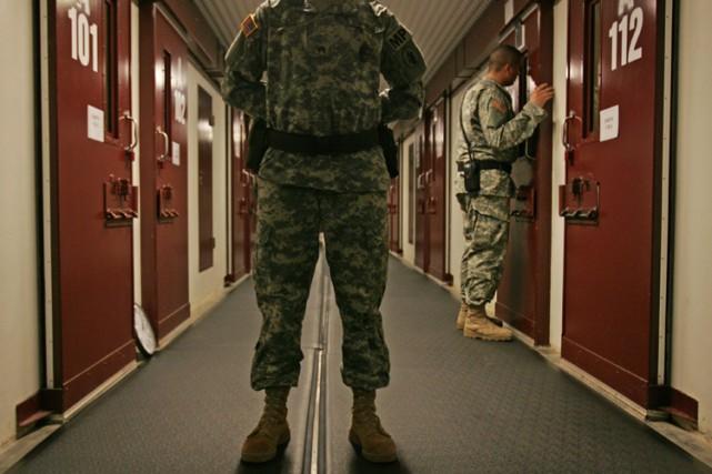À son apogée, Guantanamo abritait 680 prisonniers. Elle... (PHOTO AP)