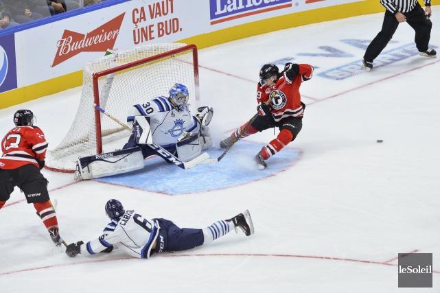 Les Sags ont profité de leur premier passage... ((Photo Caroline Gregoire, Le Soleil - Québec))