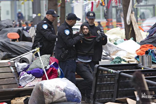 En 2011, des manifestants du mouvement Occupons Montréal... (PHOTO PATRICK SANFAÇON, LA PRESSE)