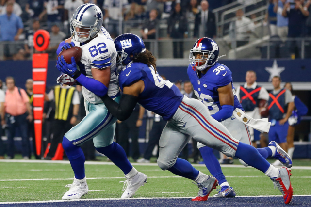 Jason Witten (82) a inscrit le touché victorieux... (Photo Tim Heitman, USA Today)
