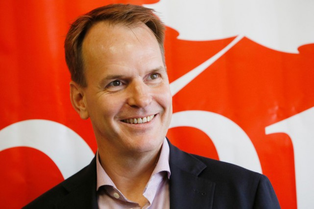 Le candidat libéral dans Gatineau, Steve MacKinnon.... (Simon Séguin-Bertrand, Archives LeDroit)