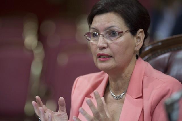 FatimaHouda-Pépin a témoigné devant la commission parlementaire chargée... (PHOTO PC)