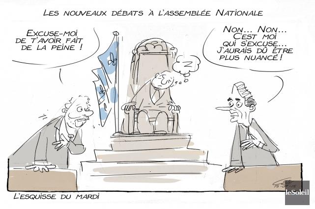 Caricature du 15 septembre 2015... (Le Soleil, André-Philippe Côté)
