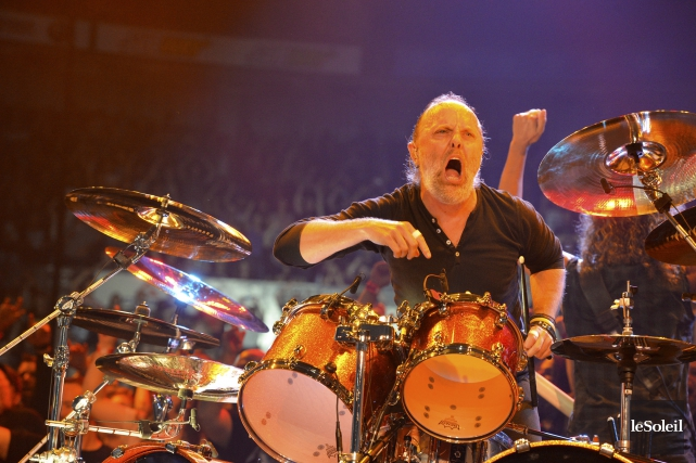Le batteur de Metallica, Lars Ulrich, trouve qu'il... (Le Soleil, Caroline Grégoire)