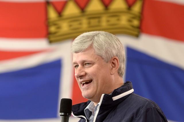 Le premier ministre Stephen Harper a diffusé un... (Photo: La Presse Canadienne)