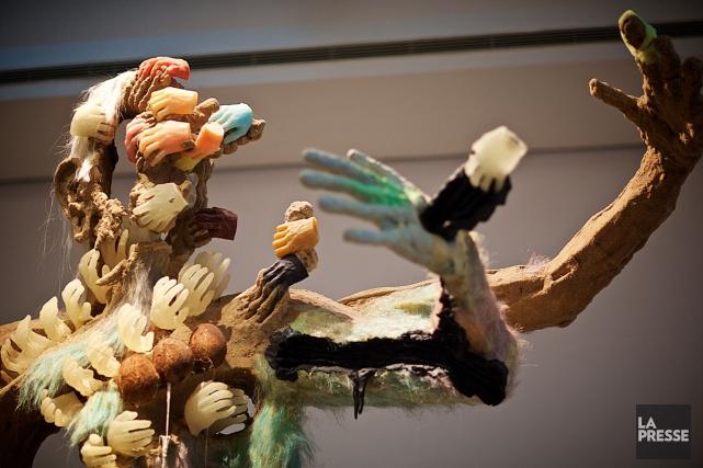 Une oeuvre de l'exposition Flux de David Altmejd... (PHOTO ANDRÉ PICHETTE, ARCHIVES LA PRESSE)
