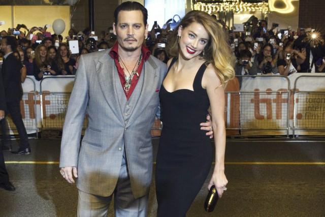 Johnny Depp et Amber Heard à la première...