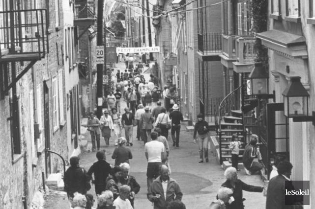 En 1981, la rue Petit-Champlain était toujours en... (Archives Le Soleil)