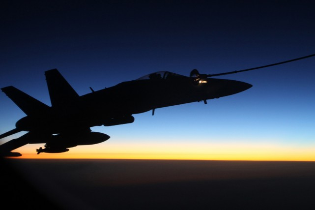 Un appareil F/A-18A Hornet de la Royal Australian... (Photo AFP)