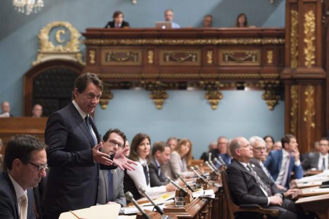 Le chef de l'opposition Pierre Karl Péladeau prend...