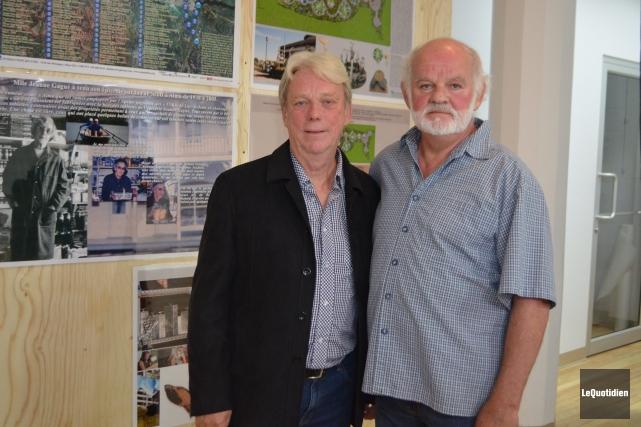 Amis depuis près de 50 ans, Alain Laroche... ((Photo le Quotidien, Laura Lévesque))