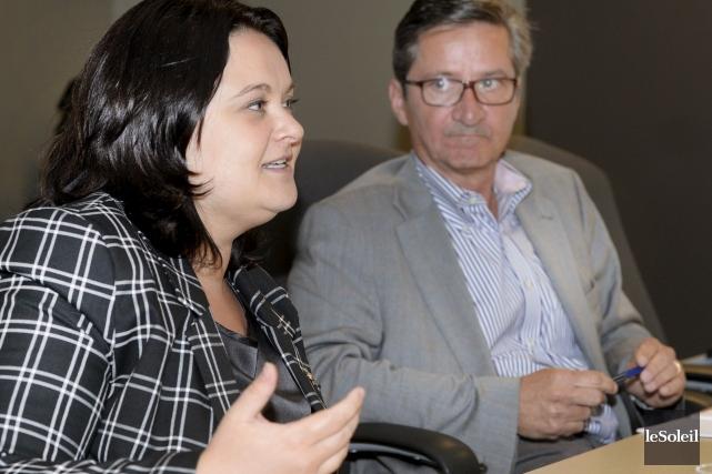 Les néo-démocrates Annick Papillon et G. Daniel Caron... (Le Soleil, Jean-Marie Villeneuve)
