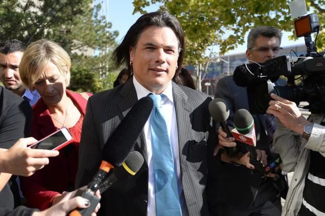 Soulagé, Patrick Brazeauprévoit réintégrer le Sénat si l'absolution... (Justin Tang, La Presse Canadienne)