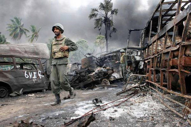 La guerre civile au Sri Lanka, qui a... (PHOTO ARCHIVES AFP/MINISTÈRE DE LA DÉFENSE SRILANKAIS)
