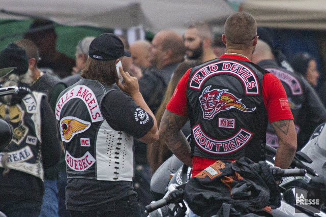 Le club de motards les Devils Ghosts comptent une quarantaine de membres au... (Archives La Presse)