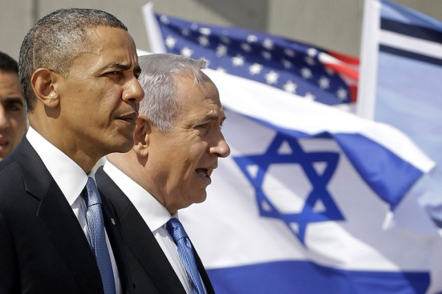 Barack Obama et Benyamin Nétanyahouen mars 2013 à... (ARCHIVES AP)