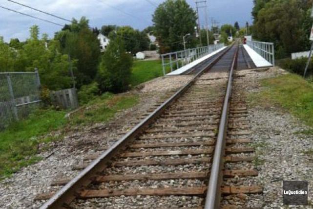 Les travaux réalisés par le CN au pont... ((Archives Le Quotidien))