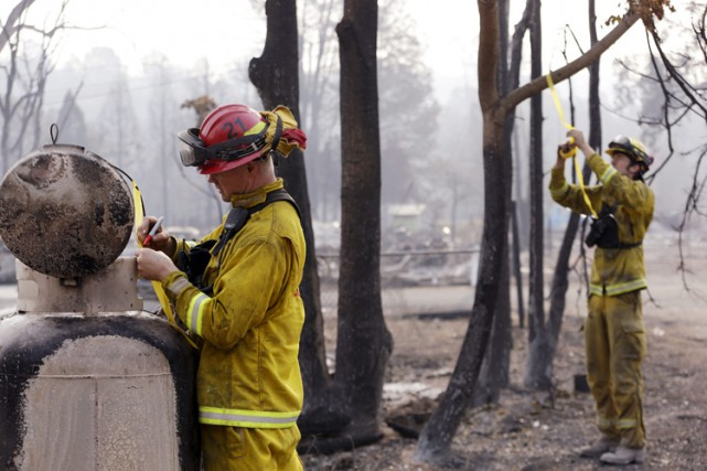 Le Valley Fire, qu'il qualifie d'«incendie le plus... (PHOTO AP)