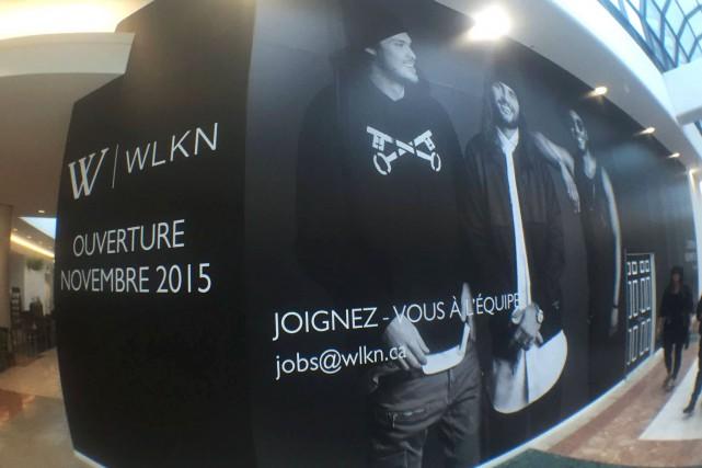 L'ouverture de la boutique W-WLKN à Laurier Québec... (Tirée de la page Facebook de W-WLKN)