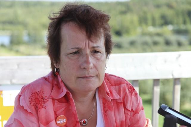 La candidate néo-démocrate dans Shefford, Claire Mailhot, a... (photo Alain Dion)