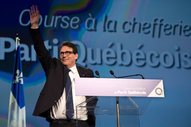 Pierre Karl Péladeau, candidat victorieux de la course... (Photo Jacques Boissinot, archives La Presse Canadienne)