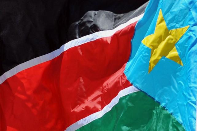Le drapeau sud-soudanais.... (PHOTO ARCHIVES AFP)
