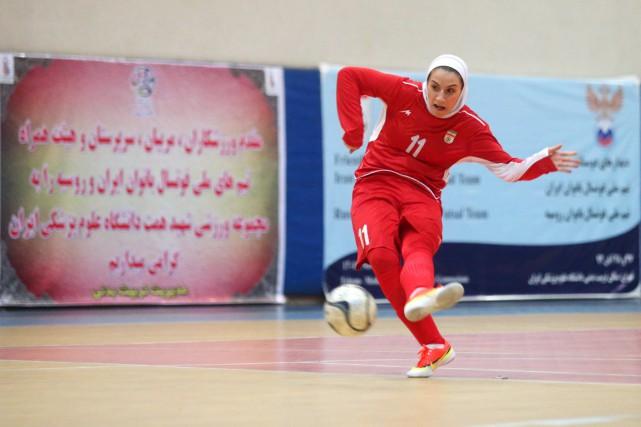 La sportive de haut niveau, Niloofar Ardalan, devait... (PHOTO AMIR KHOLOOSI, AFP/ISNA)