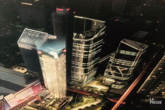 La phase 2 du projet La Tour des... (PHOTO IVANOH DEMERS, LA PRESSE)