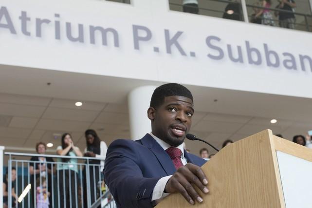 P.K. Subban se disait fier de suivre la... (Photo: La Presse Canadienne)