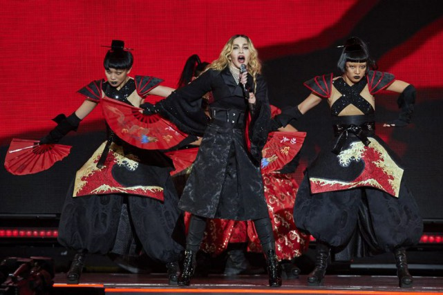 Madonna lors d'un spectacle au Madison Square Garden... (PHOTO AP)