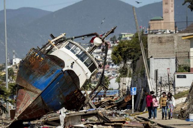 Dans le port de pêche de Coquimbo, le...