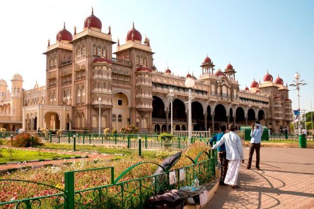 Le palais de Mysore, fait de granit et... (Collaboration spéciale, Marie-Soleil Desautels)