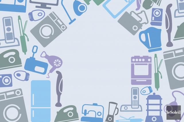 Vente de blanc, soldes sur les électroménagers, liquidation des articles... (Infographie Le Soleil)