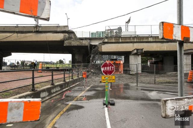 Les chantiers du nouveau pont Champlain, de l'échangeur... (PHOTO HUGO-SÉBASTIEN AUBERT, ARCHIVES LA PRESSE)