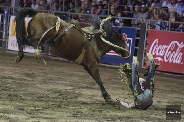 Tant les cowboys que les chevaux en ont... (Photo: Stéphane Lessard, Le Nouvelliste)