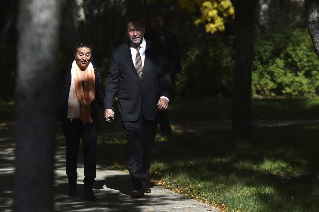 Thomas Mulcair était de passage à Regina avec... (La Presse Canadienne, Sean Kilpatrick)