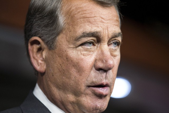 Le président de la Chambre,John Boehner... (PHOTO Joshua Roberts, Reuters)