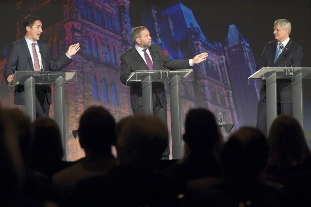 Un débat, c'est une occasion pour les leaders... (La Presse canadienne, Sean Kilpatrick)