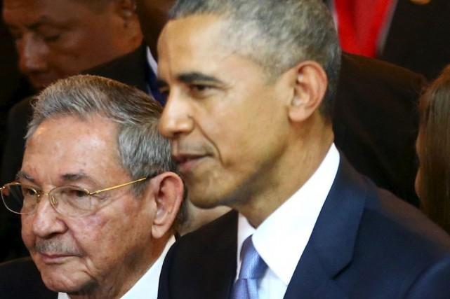 Les président cubain Raul Castro et américain Barack... (Photo d'archives Reuters)
