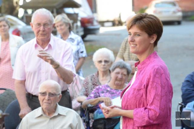 Marie-Claude Bibeau, candidate libérale dans Compton-Stanstead.... (IMACOM, Maxime Picard)