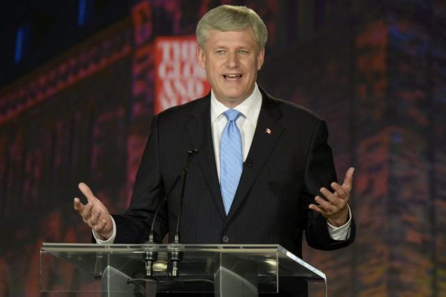 La déclaration de Harper sur lesold-stock Canadiansa le... (Mike Sturk, Reuters)