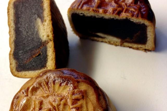 Un petit gâteau de lune (mooncake)... (Courtoisie)