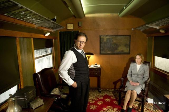 Paul Ahmarani et Lucille Fluet lors du tournage... (Martin Roy, LeDroit)