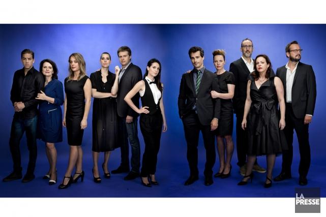 Réunis par La Presse à l'occasion des Gémeaux, ces 11 comédiens ont bien... (PHOTO MARCO CAMPANOZZI, LA PRESSE)