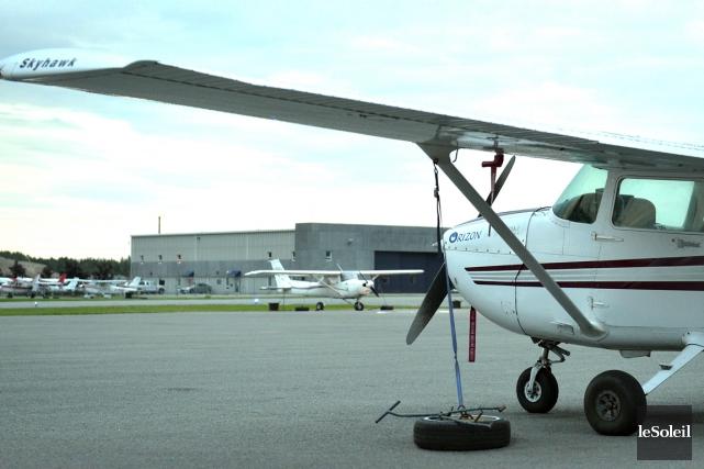 Orizon Aviation Québec, qui est opération depuis une... (Le Soleil, Yan Doublet)
