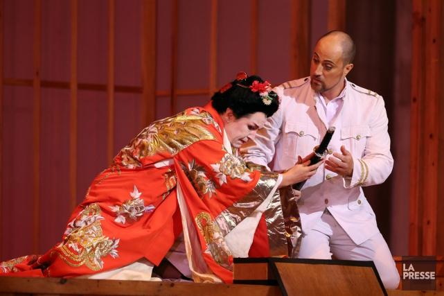 La soprano Melody Moore, interprète du rôle-titre deMadama... (PHOTO Martin Chamberland, LA PRESSE)