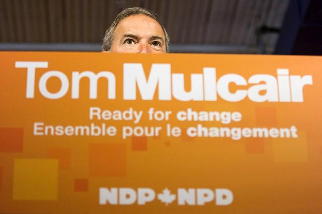 Le chef du NPD, Thomas Mulcair, arejeté les... (Photo Mark Blinch, Reuters)